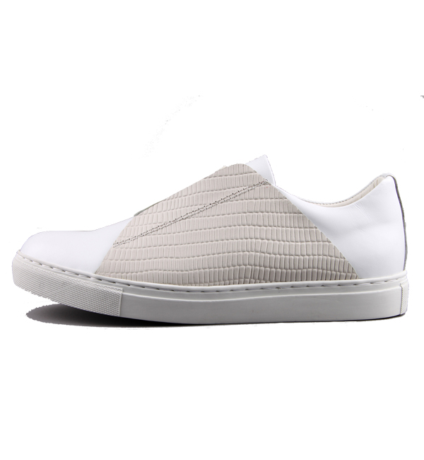 [DRONE2] IVORY COVER BAND SNEAKERS